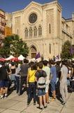 Catalan självständighetdemonstration, Spanien Arkivfoto