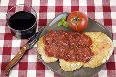Catalan style tomato rubbed Royalty Free Stock Photography