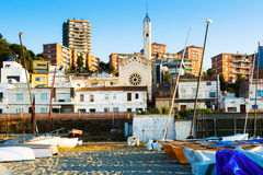 Catalan town in mediterranean coast. Montgat Royalty Free Stock Photography