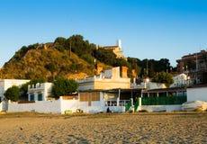 Catalan town at mediterranean coast. Montgat Royalty Free Stock Photography