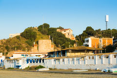 Catalan town at mediterranean coast. Montgat Royalty Free Stock Photo
