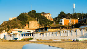 Catalan town at mediterranean coast. Montgat, Spain Royalty Free Stock Photography