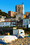 Catalan town at sea coast. Montgat Stock Photo