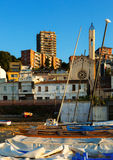 Catalan town at sea coast. Montgat, Spain Royalty Free Stock Photography