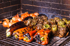 Catalan vegetable grill Stock Photo