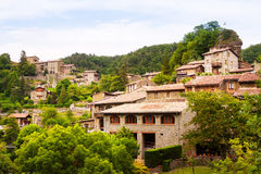 Catalan village in Pyrenees. Rupit Stock Image