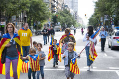 Catalan way, demanding the independence of Catalonia Stock Images