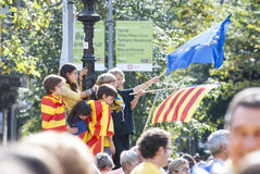 Catalan way, demanding the independence of Catalonia Stock Image
