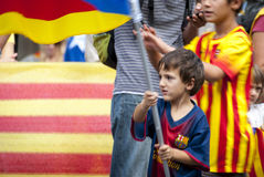 Catalan way, demanding the independence of Catalonia Royalty Free Stock Photos