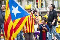 Catalan way, demanding the independence of Catalonia Stock Photo