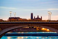 Catalanen overbruggen bij zonsopgang Stock Fotografie