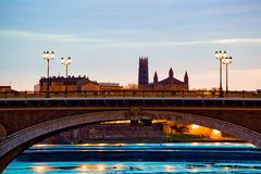 Catalans bridge at sunrise Stock Photography