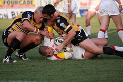 Catalans Dragons vs Castleford Tigers Royalty Free Stock Photography