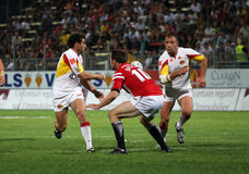 Catalans Dragons vs Celtic Crusaders Stock Photo