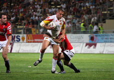 Catalans Dragons vs Celtic Crusaders. Catalans Dragon's Jerome Guisset during the Super League rugby match Catalans Dragons vs Celtic Crusaders. Catalans Dragons Stock Images