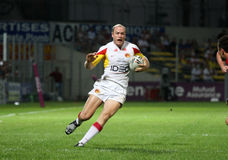 Catalans Dragons vs Celtic Crusaders. Catalans Dragon's Steven Bell during the Super League rugby match Catalans Dragons vs Celtic Crusaders. Catalans Dragons Stock Photos