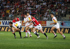 Catalans Dragons vs Celtic Crusaders Royalty Free Stock Photo
