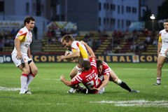 Catalans Dragons vs Celtic Crusaders Royalty Free Stock Image