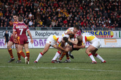 Catalans Dragons vs Huddersfield Giants Royalty Free Stock Photography