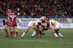 Catalans Dragons vs Huddersfield Giants Royalty Free Stock Photography