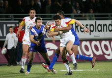 Catalans Dragons vs Saint Helens Stock Photos