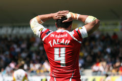 Catalans Dragons vs Salford City Reds Royalty Free Stock Photos