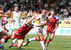 Catalans Dragons vs Salford City Reds Stock Photography