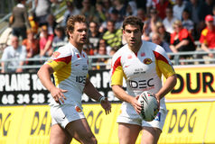 Catalans Dragons vs Salford City Reds Stock Image