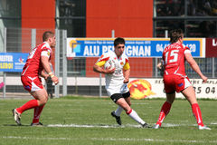 Catalans Dragons vs Salford City Reds Stock Photo