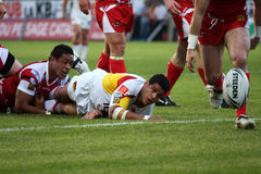 Catalans Dragons vs Salford City Reds Stock Images