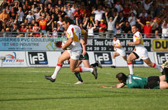 Catalans Dragons vs St Helens Stock Photography