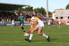Catalans Dragons vs St Helens Royalty Free Stock Images