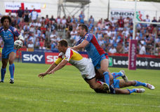 Catalans Dragons vs Wakefield Wildcats Stock Photo
