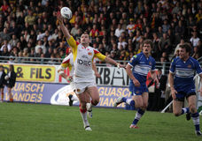 Catalans Dragons vs Wigan Warriors Stock Photography
