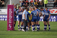 Catalans Dragons vs Wigan Warriors Royalty Free Stock Photos