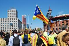 Llibertat Presos Politics march in Barcelona Stock Images
