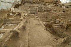 Catalhoyuk科尼亚(土耳其) BC修造在7500 C 被拍的照片:Ma 免版税库存照片