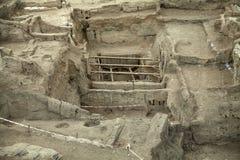 Catalhoyuk科尼亚(土耳其) BC修造在7500 C 库存照片