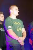 Catalin Morosanu (ROMANIA). Is a romanian kickboxer (K-1, Local Kombat and Superkombat fighting).Photo taken at Superkombat Final Elimination, october 15 Royalty Free Stock Photography