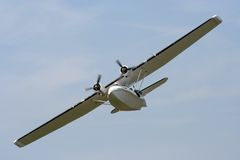 Catalina Flying boat. On display at Shoreham by sea airshow sussex, England Stock Photo