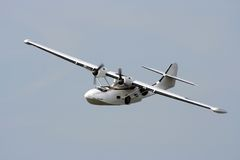 Catalina Flying boat. Catalina Flying boat on display at shoreham by sea airshow in Sussex, England Stock Image