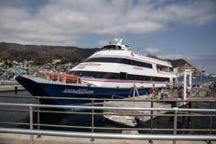 Catalina Fyler Ferry Boat Avalon Harbor on Catalina Island Stock Photo