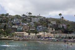 Catalina-Häuser lizenzfreie stockfotografie