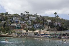 Catalina homes. A hillside of homes in catalina Royalty Free Stock Photography