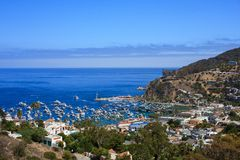 Catalina Island. A view of the port at Catalina island from higher ground Stock Image