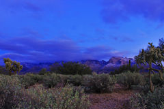 Catalina Mountains covered in snow Stock Photo