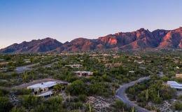 Catalina Mountains in Tucson, Arizona wordt gevestigd dat royalty-vrije stock fotografie