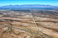 Catalina Mountains van boven 10 Tusen staten Royalty-vrije Stock Fotografie