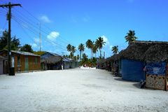 Catalina Santo Domingo sand royaltyfri fotografi