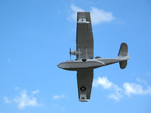 Catalina seaplane flying over Royalty Free Stock Photography